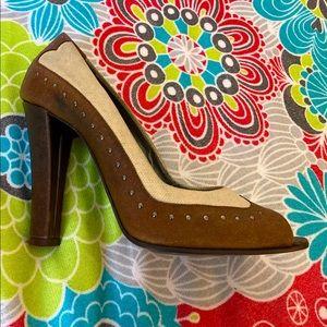 STELLA McCARTNEY fabric & leather Heels